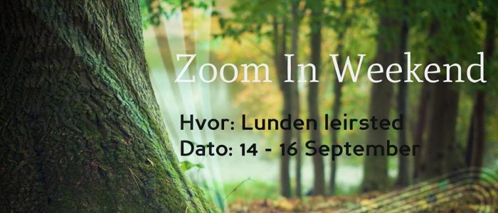 Zoom In Weekend til Lunden leirsted