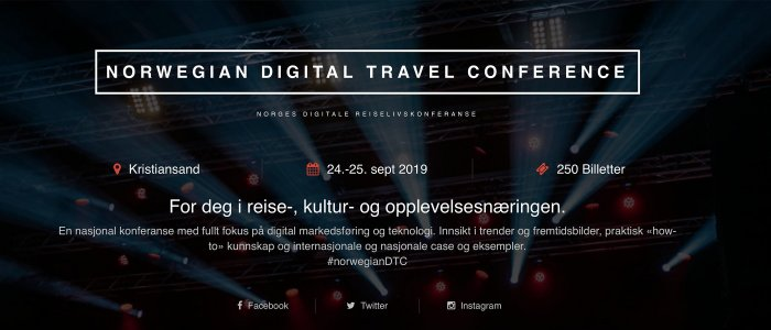 Norwegian Digital Travel Conference 2019