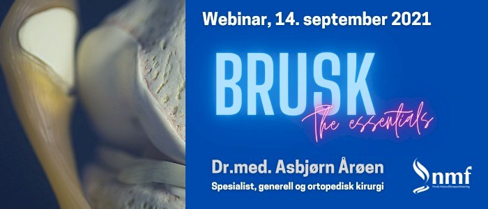 Webinar, 14. september 2021: Brusk - the essentials